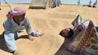 مصر: ریت میں لوگ خود کو کیوں دفن کرتے ہیں ؟