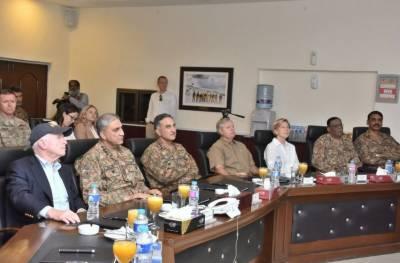 امریکی سینیٹرز کے وفدکاآرمی چیف جنرل قمر جاوید باجوہ کی موجودگی میں جنوبی وزیرستان کا دورہ