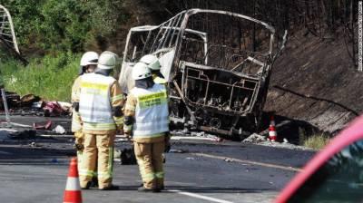 بس میں آگ لگنے سے جرمنی میں اٹھارہ مسافر جل کر ہلاک ہو گئے