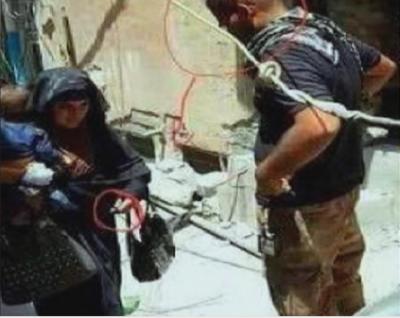 موصل : داعش کی بچہ اٹھائے خودکش بمبار عورت کا حملہ