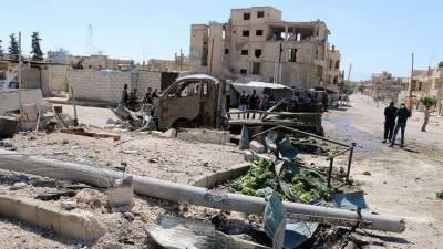 شامی شہر ادلب میں خودکش دھماکا، 37 افراد ہلاک
