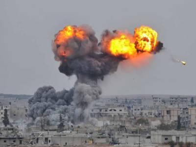 شام کے شہر رقہ پرامریکی بمباری میں 10 شہری جاں بحق