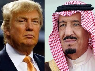 شاہ سلمان اور امریکی صدر کے درمیان قطری بحران پر تبادلہ خیال