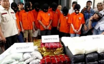 انڈونیشیا منشیات اسمگلروں کو گولی مارنے کا حکم