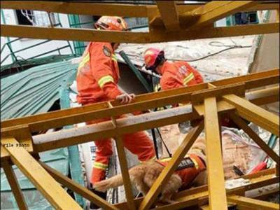 چین: تعمیر اتی مقام پر کرین گرنے سے 7افراد ہلاک ،2زخمی