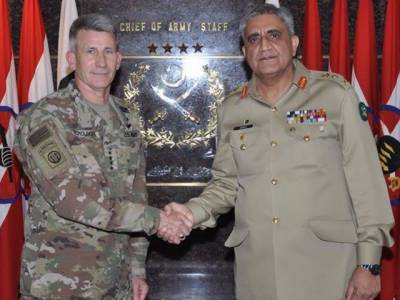 آرمی چیف جنرل قمر جاوید باجوہ سے افغانستان میں امریکی فورسز کے کمانڈر کی ملاقات