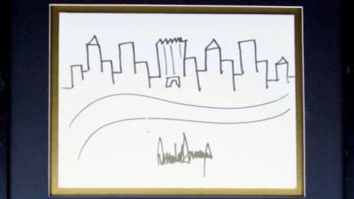 ڈونلڈ ٹرمپ کی ڈرائینگ مہنگے داموں نیلام
