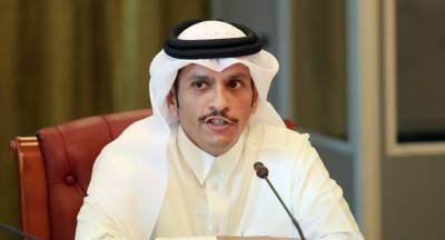 قطر کے وزیر خارجہ کا امریکہ ،برطانیہ اور فرانس کیساتھ خلیجی بحران پر تبادلہ خیال