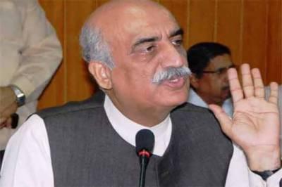 خورشید شاہ کا عائشہ گلا لئی کے الزامات کی تحقیقات کا مطالبہ