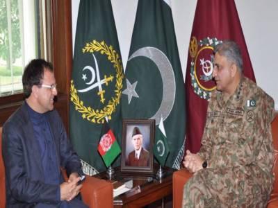 آرمی چیف کی افغان سفیر سے ملاقات، سیکورٹی اور بارڈر مینجمنٹ پر تبادلہ خیال