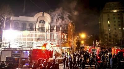 سعودی عرب نے تہران میں سعودی سفارت خانے پر حملے سے متعلق ایرانی دعوے مسترد کر دئیے