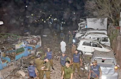 لاہور: بند روڈ پر کھڑے ٹرک میں دھماکا، ایک شخص جاں بحق، 39 زخمی