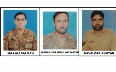 دہشتگردوں کیخلاف آپریشن، میجر اور 3 سپاہی شہید، آئی ایس پی آر