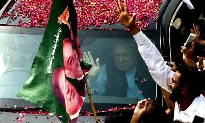 سابق وزیر اعظم نوا ز شریف جہلم میں قیام پذیر، روانگی 10بجے ہو گی