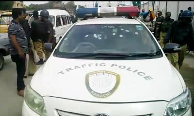 کراچی: فائرنگ سے ڈی ایس پی ٹریفک ڈرائیور سمیت شہید