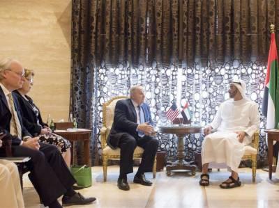 قطر کشیدگی کے حل کیلئے ابو ظبی کے ولی عہدسے امریکی ایلچیوں کی ملاقات