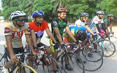 سندھ رینجرز کے زیر اہتمام جشن آزادی سائیکل ریس اور واک