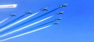 70واں یوم آزادی، پاک فضائیہ کے شاہینوں کا شاندار فضائی مظاہرہ