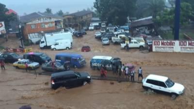 مغربی افریقی ملک سیرالیون میں سیلاب اور لینڈ سلائیڈنگ سے 180افراد ہلاک