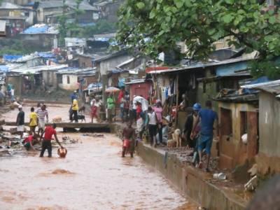 سیرالیون میں سیلاب اورلینڈ سلائیڈنگ سے312 افراد ہلاک