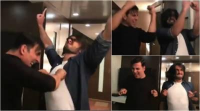 فلم کی کامیابی پر اکشے کمار اور رنویر سنگھ کی ویڈیو سوشل میڈیا پر وائرل