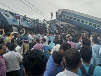 بھارت میں خوفناک ٹرین حادثہ ، درجنوں ہلاکتیں اور سینکڑوں زخمی