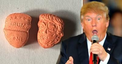 ڈونلڈ ٹرمپ کی شکل والی ہزاروں نشہ آور گولیاں پکڑی گئیں