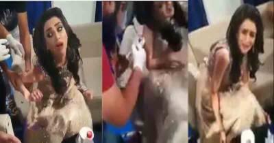 فضاء علی کی انجکشن لگنے کے خوف سے چیخنے چلانے کی ویڈیو سوشل میڈیا پر وائرل ہو گئی