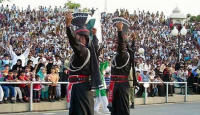 یوم دفاع،واہگہ اور گنڈا سنگھ بارڈر پر پرچم اتارنے کی تقاریب