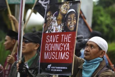 انڈو نیشیا میں ہزاروں افراد روہنگیا مسلمانوں پر ڈھائے جانے والے مظالم کیخلاف سڑکوں پر نکل آئے