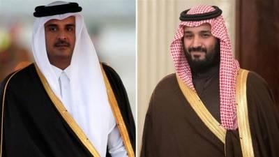 قطری اور سعودی راہنماوں کا رابطہ،خلیجی بحران پر گفتگو
