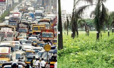 بھارتی شہر ممبئی میں درختو ں سے زیادہ گاڑیاں موجود ہیں