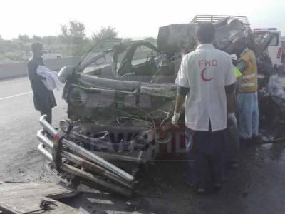 راولپنڈی، ٹریفک حادثے میں 14 افراد جاں بحق