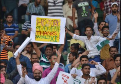 پاکستان نے ورلڈ الیون کو 198 رنز کا ہدف دیدیا
