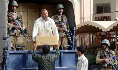 این اے 120 ضمنی الیکشن، بیلٹ پیپرز فوج کی نگرانی میں الیکشن کمیشن کے سپرد