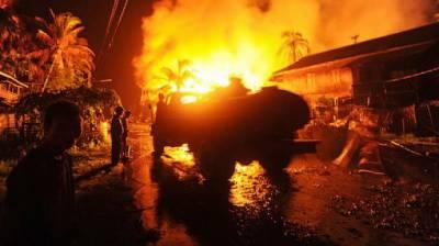 میانمارمیں تشدد کی تازہ لہر میں 20گھر جلا دئیے گئے