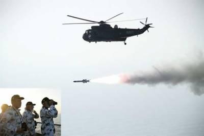 پاک بحریہ کا سی کنگ ہیلی کاپٹر سے میزائل فائرنگ کا کامیاب تجربہ