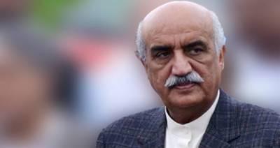 مشرف اتنے شیر ہیں تو بینظیر کی طرح پاکستان آ کر مقابلہ کریں، خورشید شاہ
