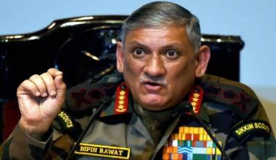 بھارتی آرمی چیف نے پھر پاکستان کو نام نہاد سرجیکل اسٹرائیک کی دھمکی دیدی