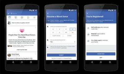 فیس بک کا خون کے عطیات میں مدد فراہم کرنیوالا فیچر متعارف