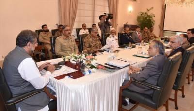 وزیراعظم کی زیرصدارت قومی سلامتی کمیٹی کا اجلاس جاری