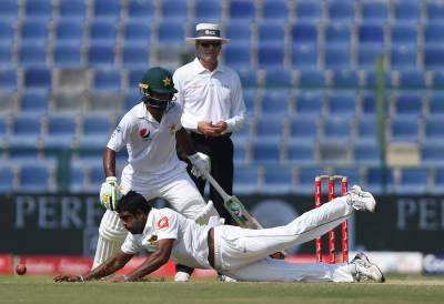 پاکستان کی سری لنکا کیخلاف پہلے ٹیسٹ کے چوتھے روز بیٹنگ جاری