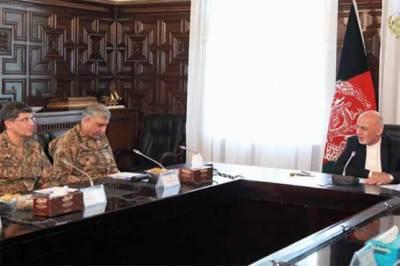 آرمی چیف کی افغان صدر سے ملاقات، سکیورٹی سمیت دو طرفہ امور پر بات چیت