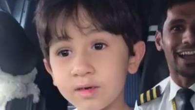 دبئی :چھ سالہ بچہ فلائٹ انسٹرکٹر بن گیا