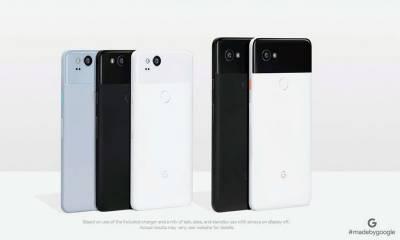 """گوگل کے فلیگ شپ سمارٹ فونز""""پکسل 2 """" اور پکسل 2 ایکس """" متعارف"""