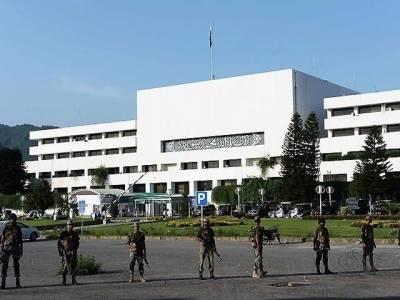 اسلام آباد، رینجرز نے پارلیمنٹ کی سیکیورٹی چھوڑ دی