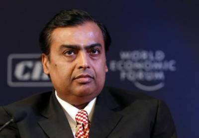 مکیش امبانی10 ویں سال بھی امیر ترین بھارتی شخص برقرار