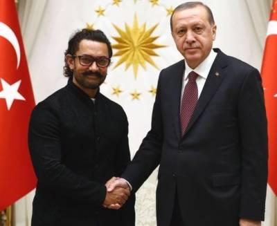 اداکار عامر خان ترکی پہنچ گے،ترک صدر طیب اردگان سے ملاقات