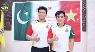 پشاور زلمی کا 2 چینی کرکٹرز کو اسکواڈ میں شامل کرنیکا اعلان