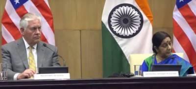 امریکی و بھارتی وزیر خارجہ کی مشترکہ پریس کانفرنس، پاکستان کے خلاف الزامات کی بوچھاڑ
